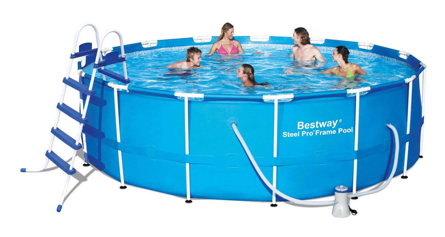 bestway pool review expert review of the steel pro frame pool. Black Bedroom Furniture Sets. Home Design Ideas