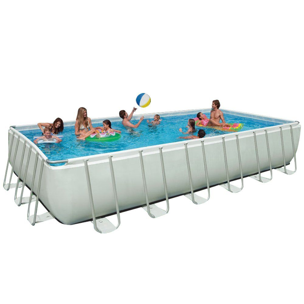 Intex ultra frame pool review best rectangular above - Above ground swimming pools reviews ...